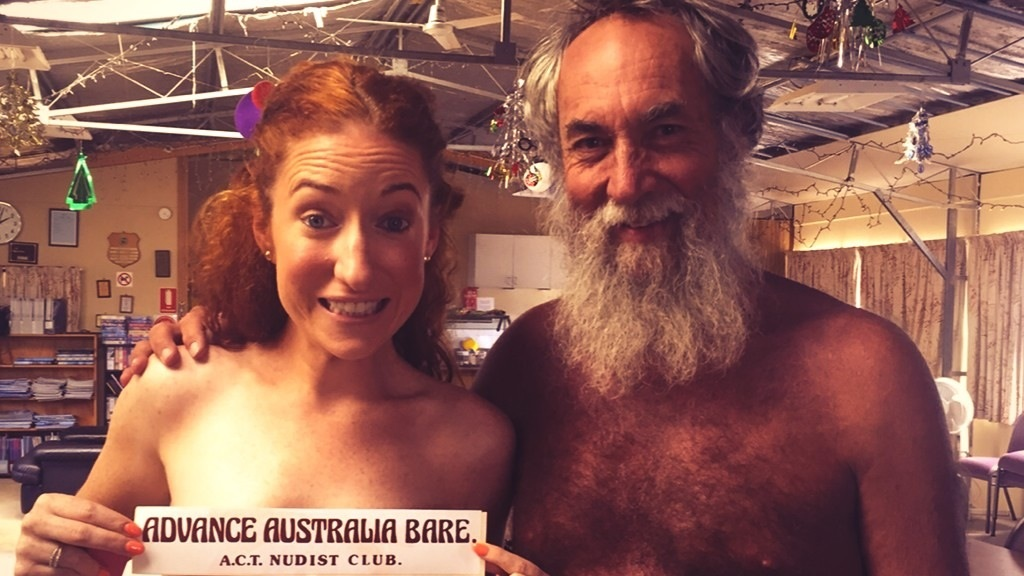She did it! Kristen bared all in her interview with ACT Nudist Club President, John.